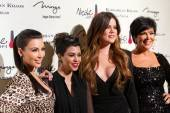 Kim Kardashian, Kourtney Kardashian, Khloe Kardashian and Kris Jenner open their first Kardashian Khaos store at The Mirage.