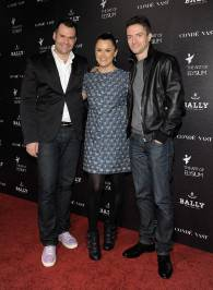 Bally's Adam McCollum, Founder of the Art of Elysium Jennifer Howell and Topher Grace