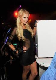 Paris Hilton parties at Surrender.