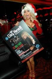 Angel Porrino with her poster at Crazy Horse III.