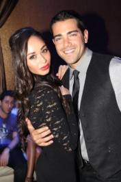 Cara Santana and Jesse Metcalfe celebrate his birthday at Vanity Nightclub.