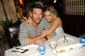 Happy couple Eddie Cibrian and LeAnn Rimes dine at Lavo.