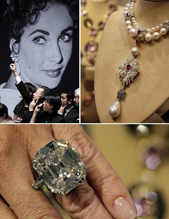 Elizabeth Taylor's Jewelry Sets A World Record For Most Valuable Private Collection of Jewels Sold At Auction