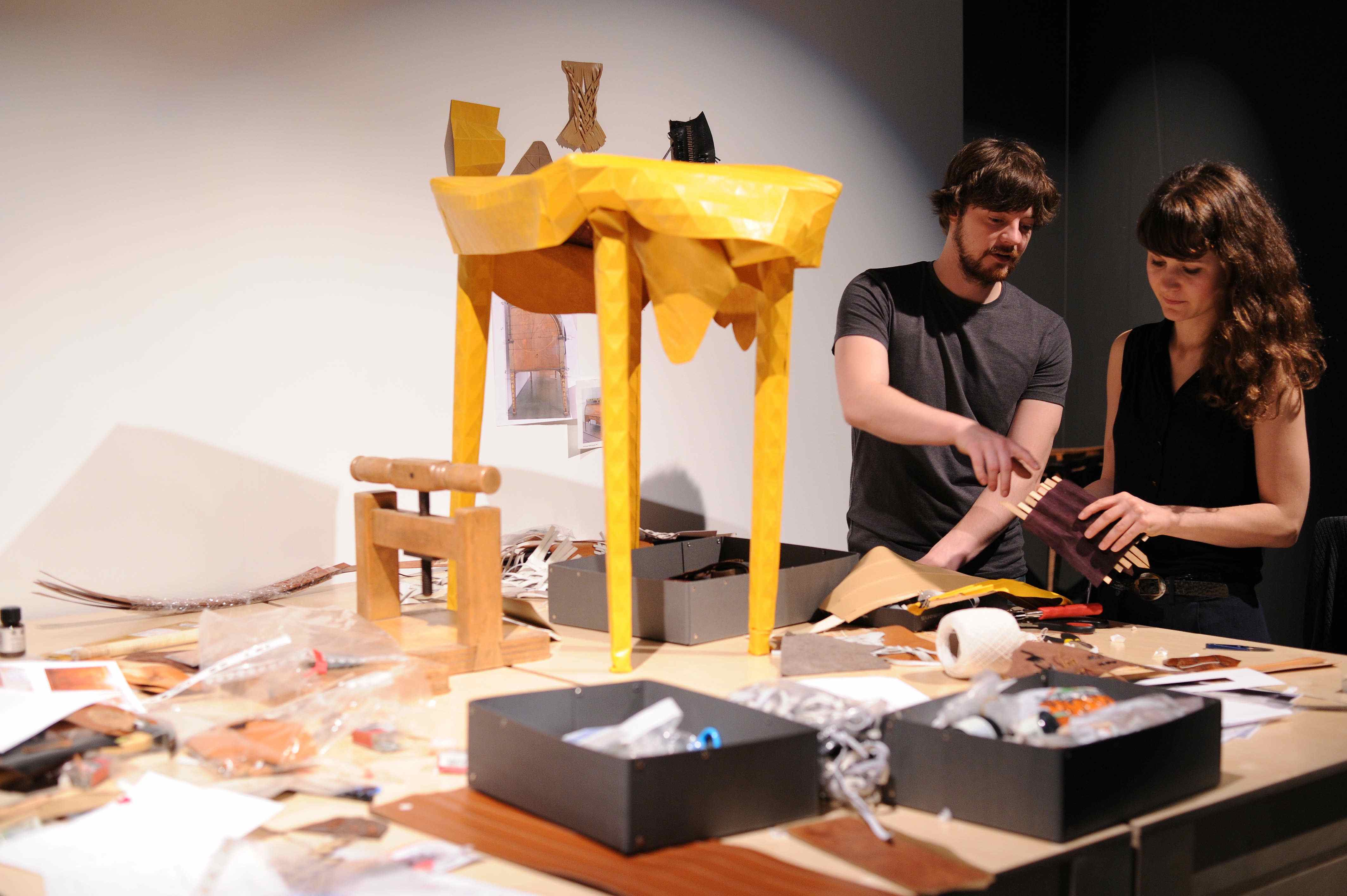 FENDI Design Miami Craft Alchemy_Elisa Strozyk and Sebastian Neeb at work 5