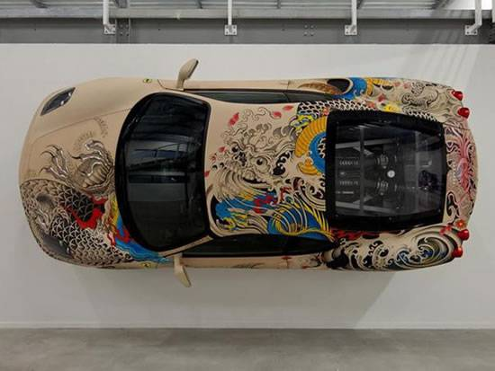 Haute Auto: Leather-Wrapped Ferrari F430 With Tattoos
