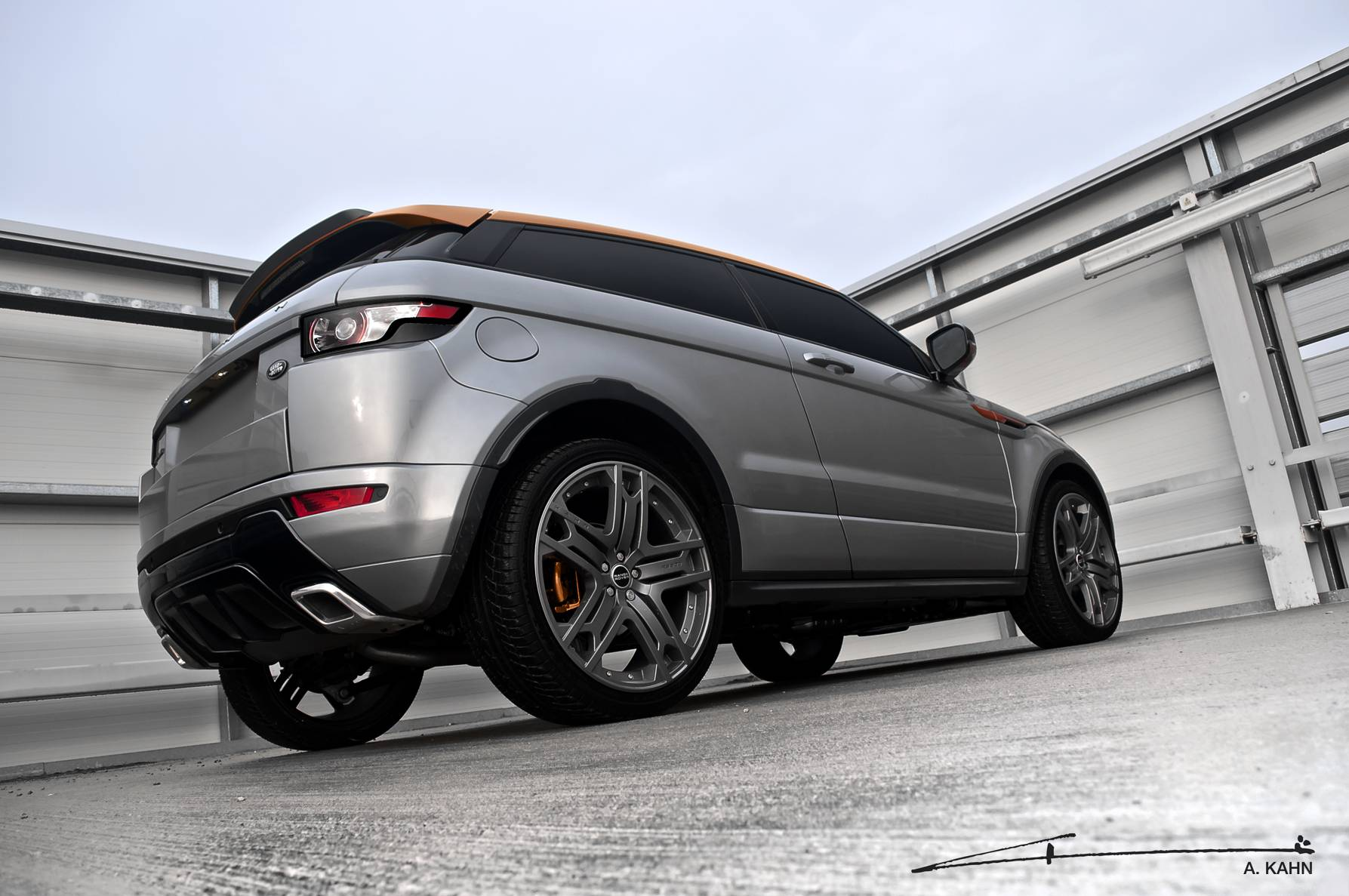 Grey and Orange Evoque (1)