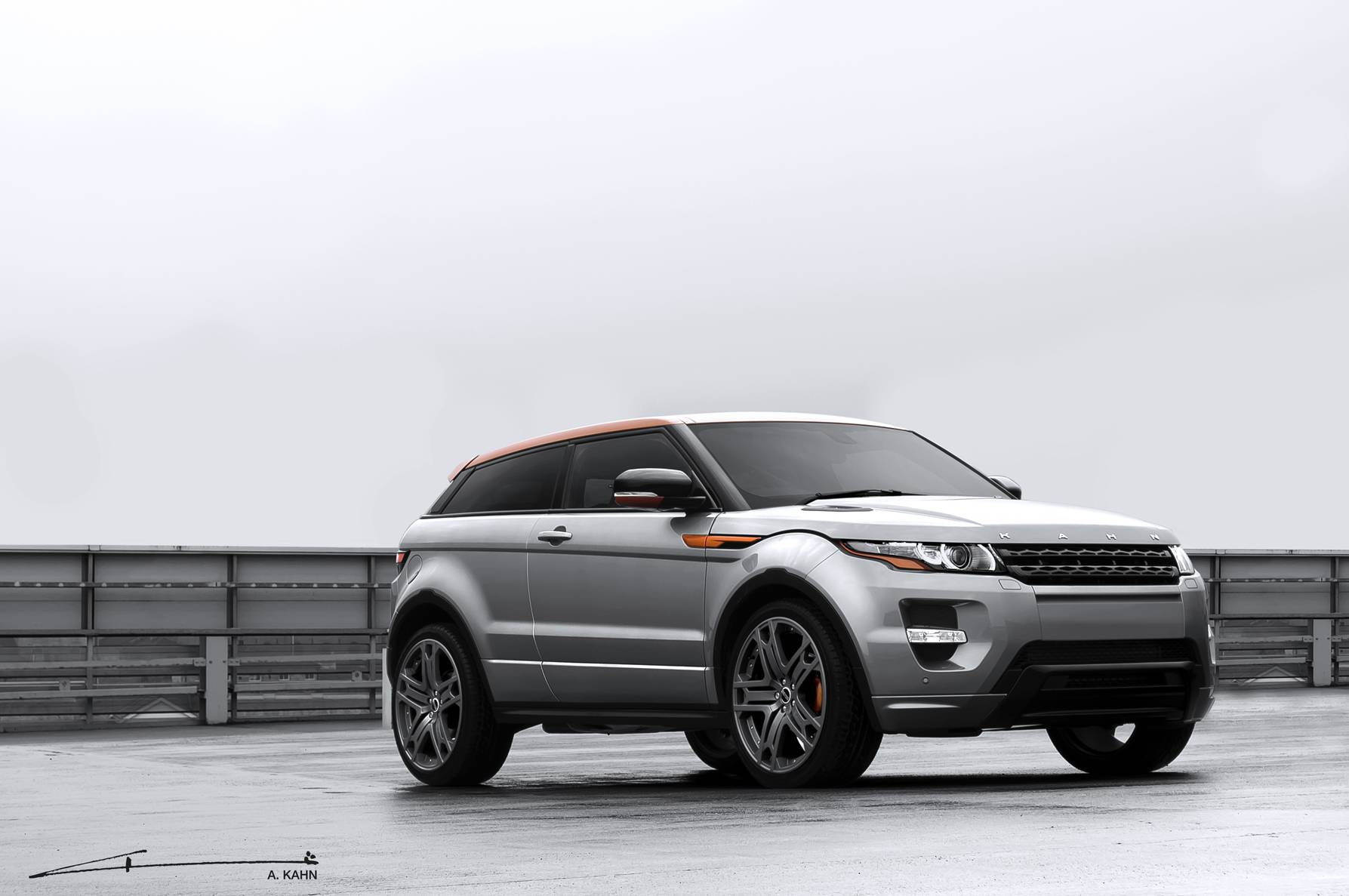 Grey and Orange Evoque (2)