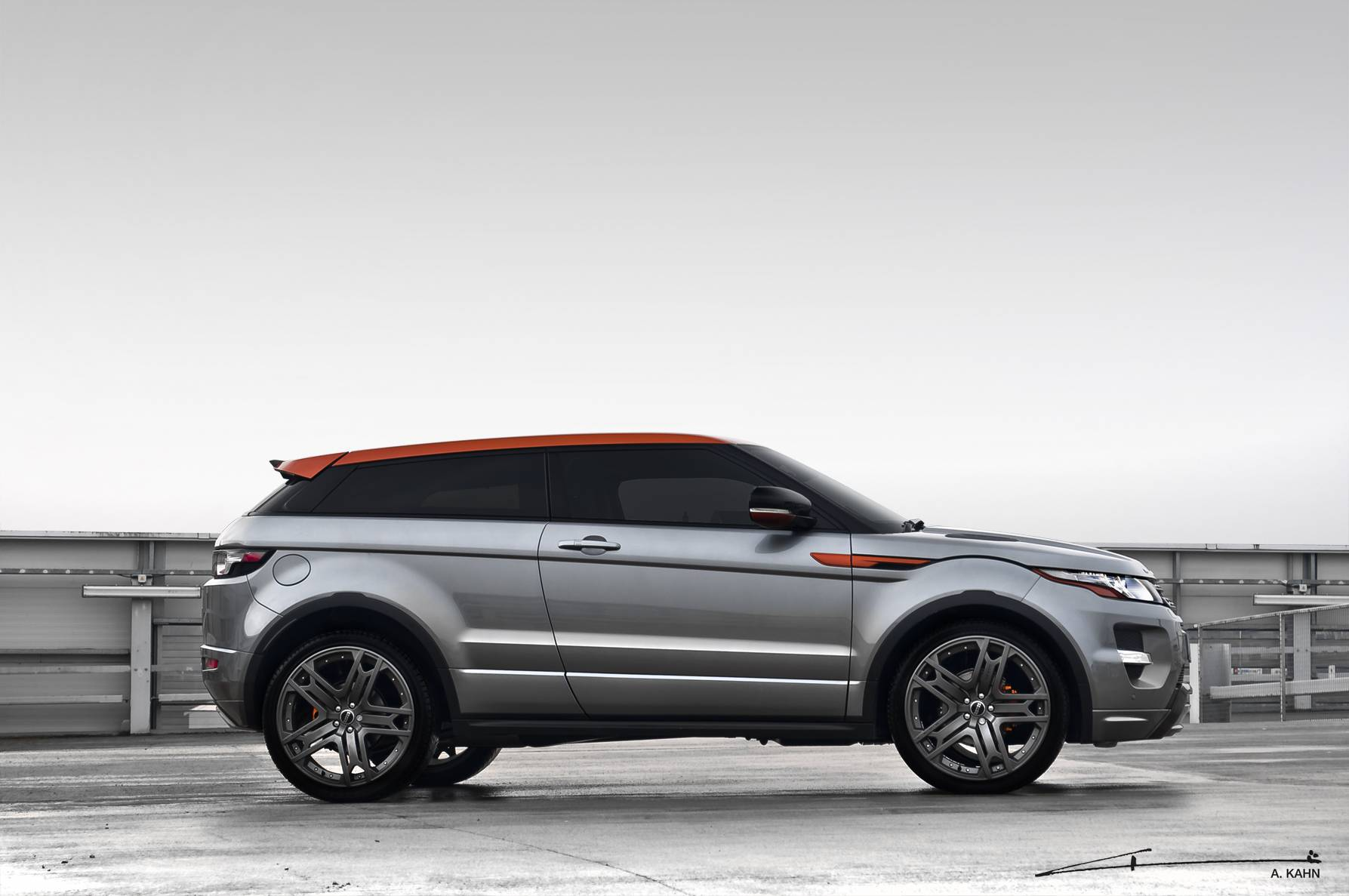 Grey and Orange Evoque (3)