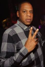 Jay-Z at his post-concert party at Tao.