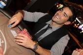 Jesse Metcalfe plays poker at the Hard Rock Hotel.