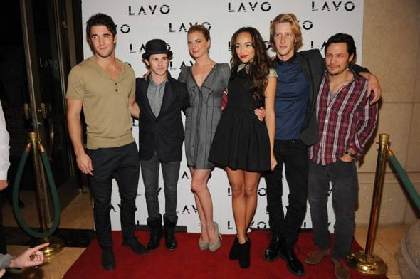 Joshua Bowman_Connor Paolo_Emily VanCamp_Ashley Madekwe_Nick Weschler_LAVO