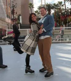 Melissa Rycroft and Tye Strickland ice skate at the Venetian.