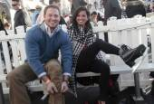 Melissa Rycroft and Tye Strickland strap on ice skates at the Venetian.