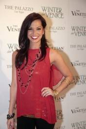 Melissa Rycroft on the white carpet.