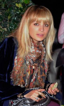 Nicole Richie in the audience at Good Charlotte's performance at Chateau Nightclub & Gardens at Paris Las Vegas.