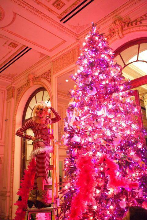The Plaza Hotel's Hot Pink Betsey Johnson Christmas Tree