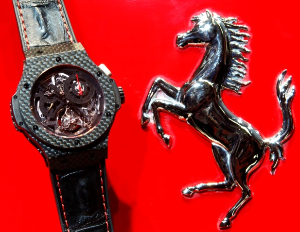 Check Out The Hublot Ferrari Big Bang Chrono Tourbillon on Haute Time
