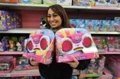 Wynn Las Vegas Director of Nightlife Entertainment Zee Zandi purchases Barbie DJ turntables.
