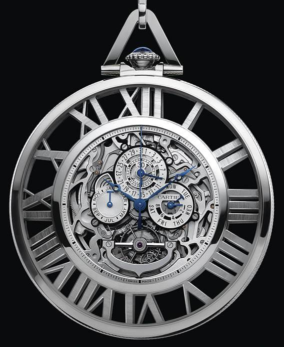Haute Time: Cartier Grand Complication Skeleton Pocket Watch