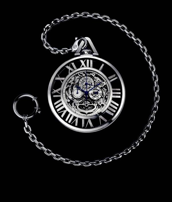 Haute Time :: Cartier Grand Complication Skeleton Pocket Watch