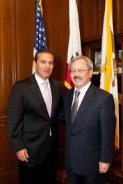Los Angeles Mayor Antonio Villaraigosa and Mayor Ed Lee