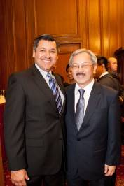 Jesus Cisneros and Mayor Ed Lee