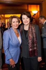 Representative Nancy Pelosi and Senator Dianne Feinstein