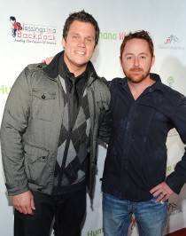 TV personality Bob Guiney and actor Scott Grimes