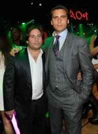 Mike Heller, left, and Scott Disick at I OAK.