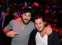 Maksim Chmerkovskiy, left, and Val Chmerkovskiy attend the grand opening celebration at 1 OAK.