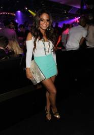 Singer Christina Millian attends the grand opening celebration at 1 OAK.