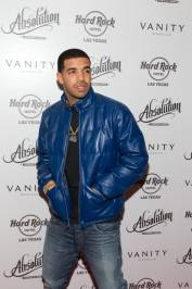 Drake walks the red carpet at Vanity Nightclub.