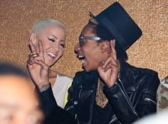 Amber Rose and Wiz Khalifa at Vanity Nightclub.