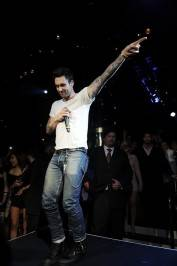 Adam Levine performs at 1OAK.