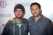 Avicii and Jason Strauss on the red carpet at Marquee.