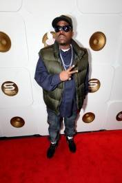 Big Boi on the red carpet at Haze Nightclub.
