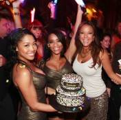 Eva LaRue with her birthday cake at Surrender Nightclub.