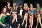 "The ""Fantasy"" ladies at their VIP table at Chateau Nightclub & Gardens."