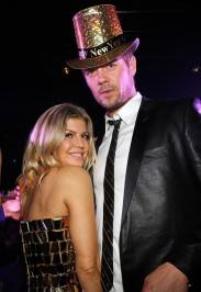 Fergie and Josh Duhamel celebrate the new year at the new 1OAK.