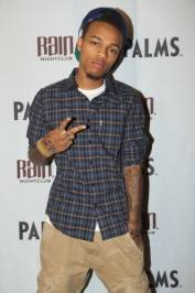 Bow Wow on the red carpet at Rain Nightclub.