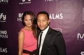 Chrissy Tiegen and John Legend at Moon Nightclub.