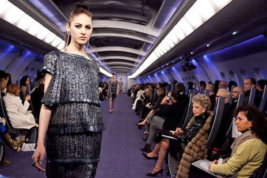 Karl Lagerfeld Hosts Luxury Aircraft-Themed Fashion Show