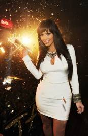 Kim Kardashian rings in the new year at Tao.
