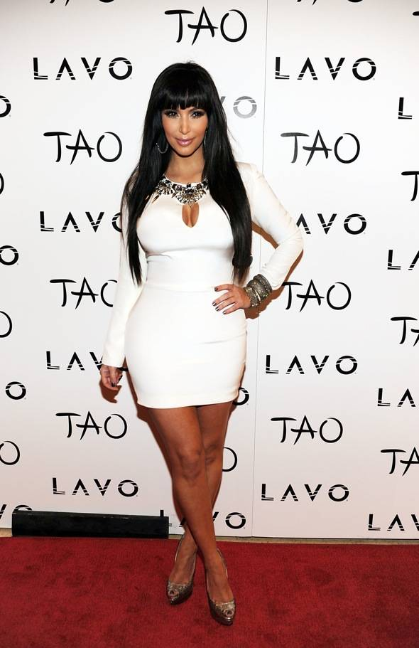 Haute Event: Kim Kardashian Rings in the New Year at Tao