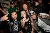 Kreayshawn and V Nasty with Redfoo and the Party Rock crew at Lavo.
