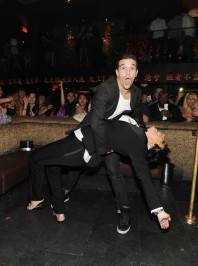 Kris Jenner and Mark Ballas show off dance moves at Tao.