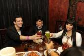Mark Ballas, Kris Jenner and Kim Kardashian dine at Tao Asian Bistro.