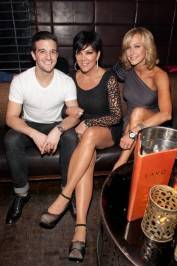 Mark Ballas, Kris Jenner and Lara Spencer at Lavo.