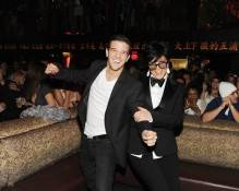 Mark Ballas and Kris Jenner celebrate New Year's Eve at Tao.