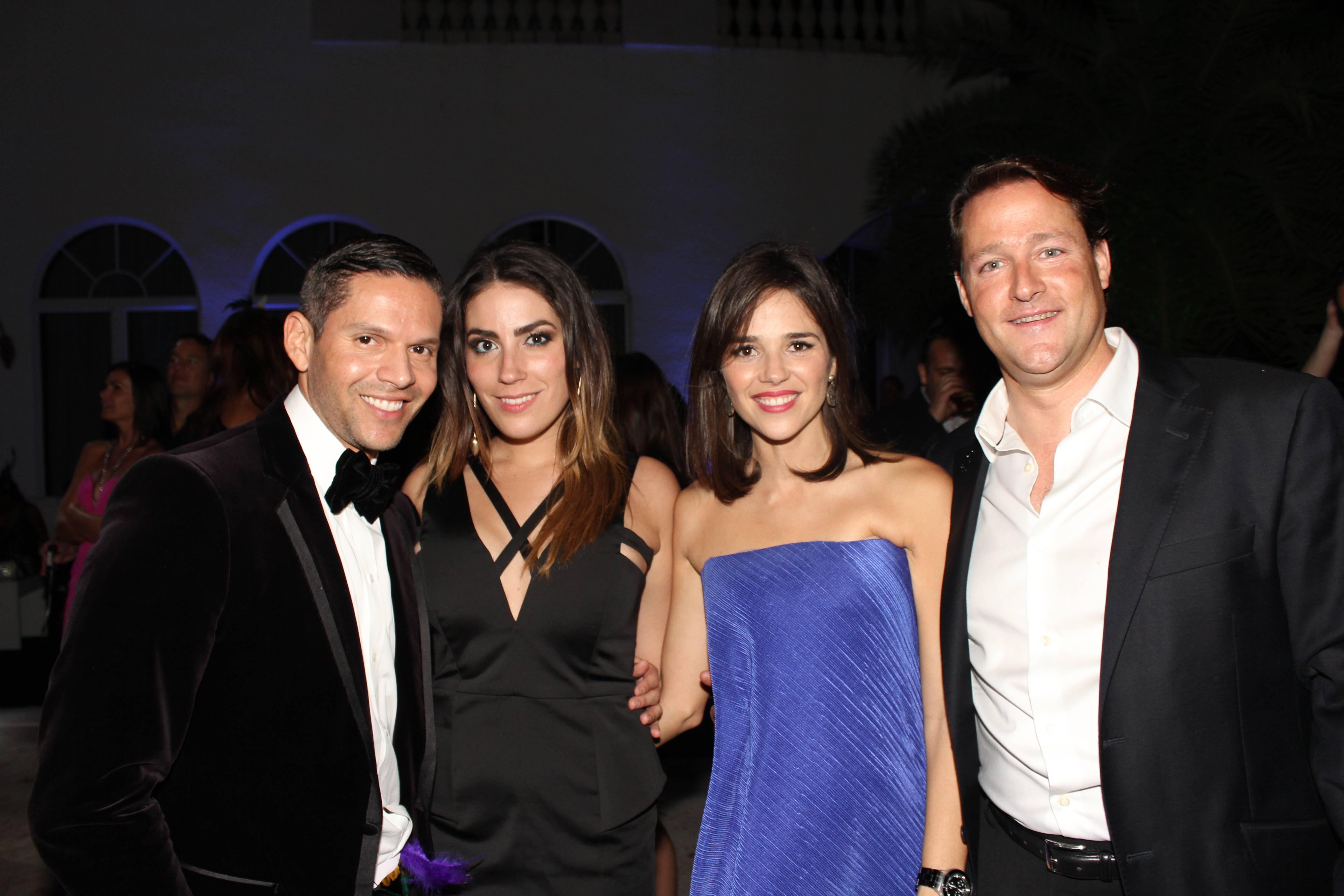 Rodner Figueroa, Luly Valls, Ana and Sean Wolfington